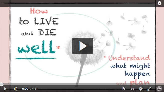 How to Live and Die Well a video for the public, patients and family carers